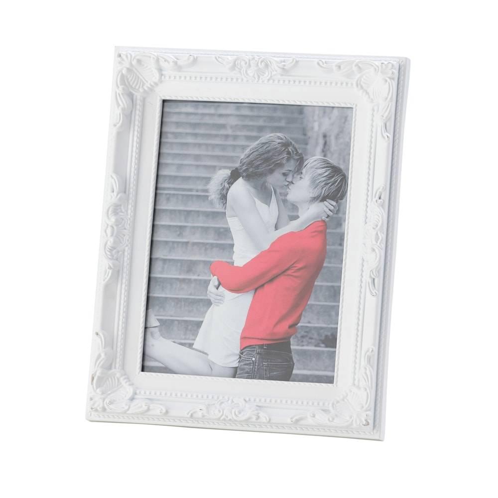 Porta-Retrato Vintage Branco Foto 10x15 cm - Lyor Classic - 19x14 cm