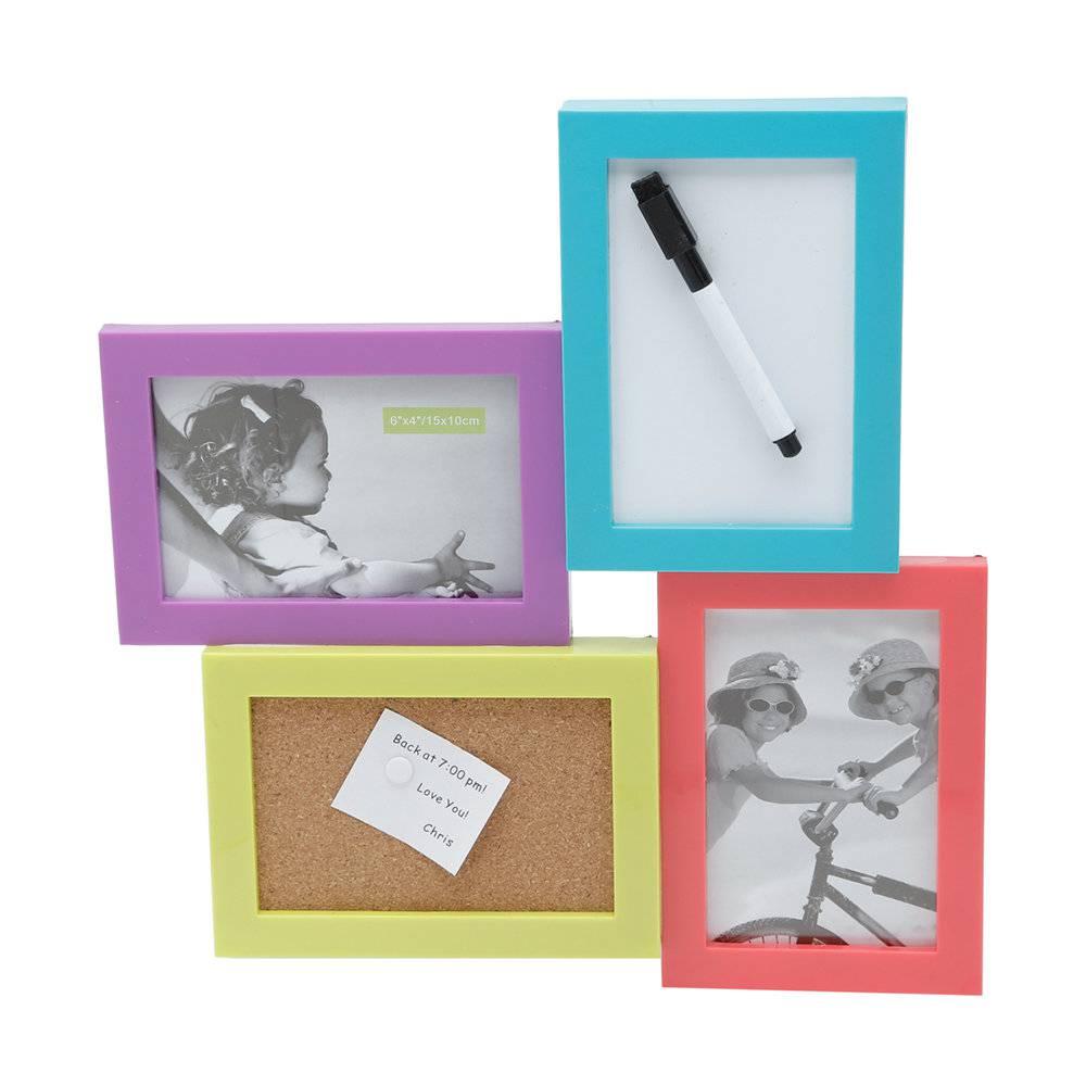 Porta-Retrato Window - 2 Fotos 10x15 cm - com Espaço para Anotações e Recados - Prestige - 32x32 cm