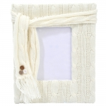 Porta-Retrato Wool Grande Branco - Foto 10x15 cm - em Tecido