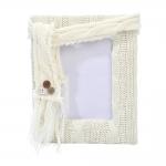 Porta-Retrato Wool Pequeno Branco - Foto 9x13 cm - em Tecido