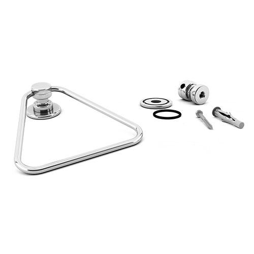Porta-Toalhas de Rosto Triangular - 100% Inox - 15 cm