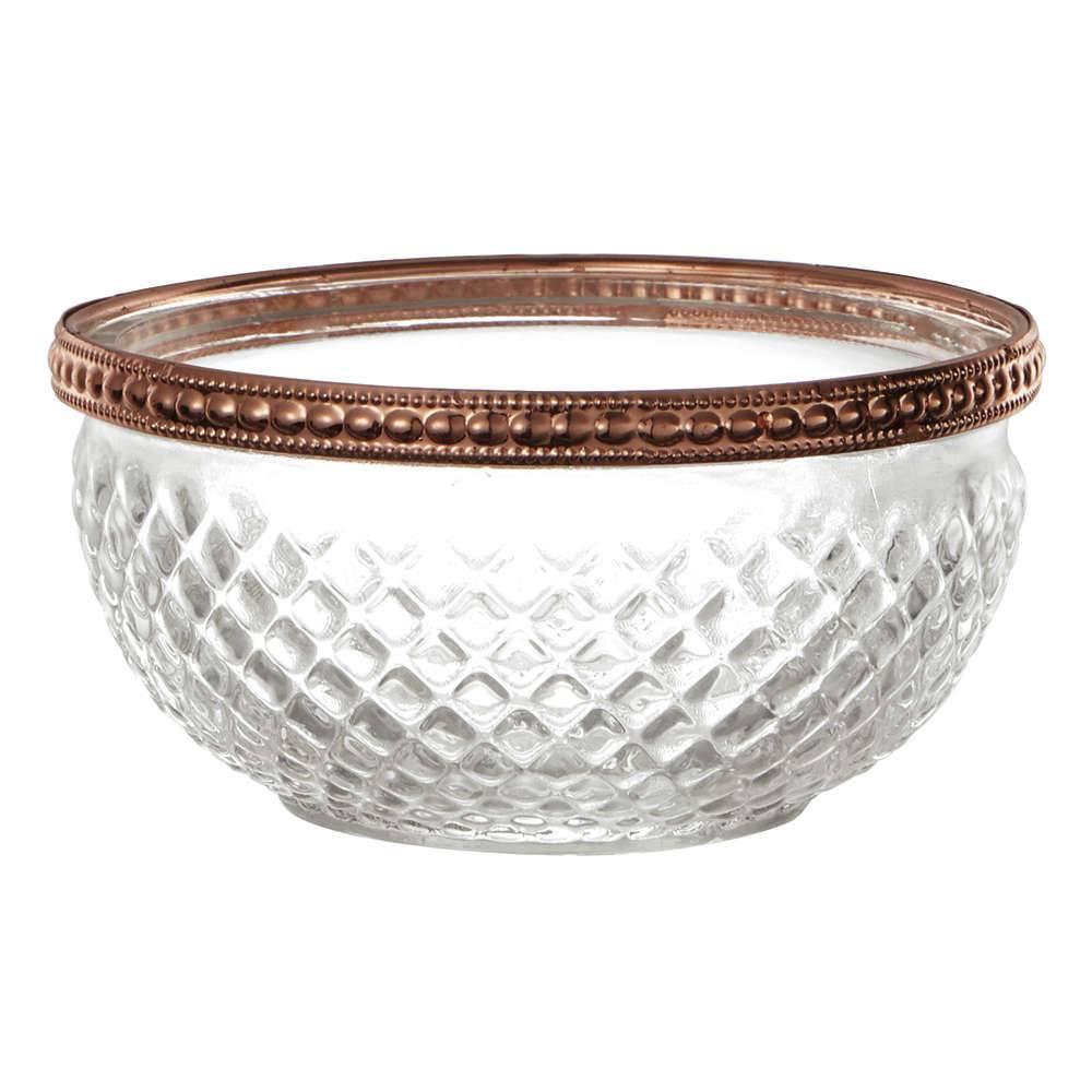 Porta-Vela Triangle Bowl em Vidro - 11x5,5 cm