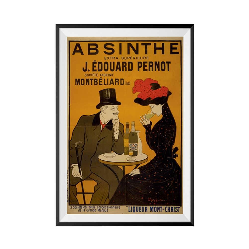 Pôster com Moldura Le Jazz Absinthe em Madeira - Urban - 70x50 cm