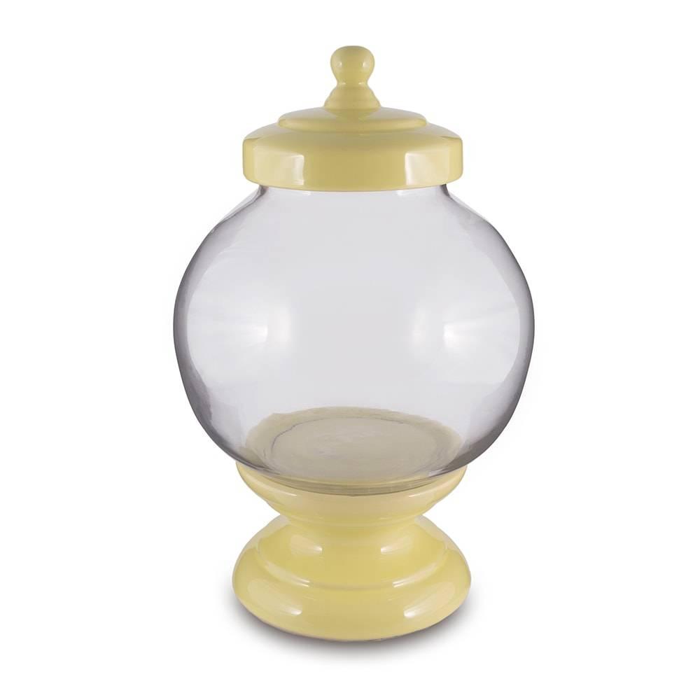 Pote Bojudo Amarelo em Vidro - 40x24 cm