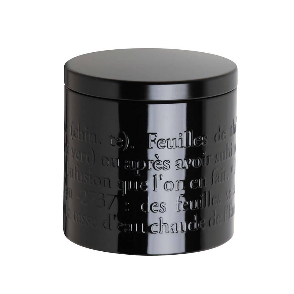 Pote para Chá France Preto Pequeno em Metal - 9,5x9,5 cm
