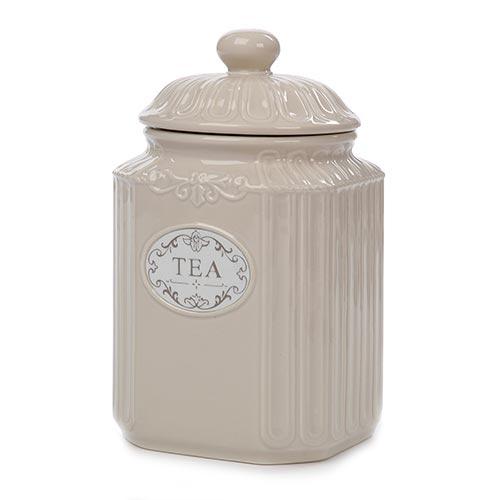 Pote para Chá com Tampa em Cerâmica - 20x12 cm