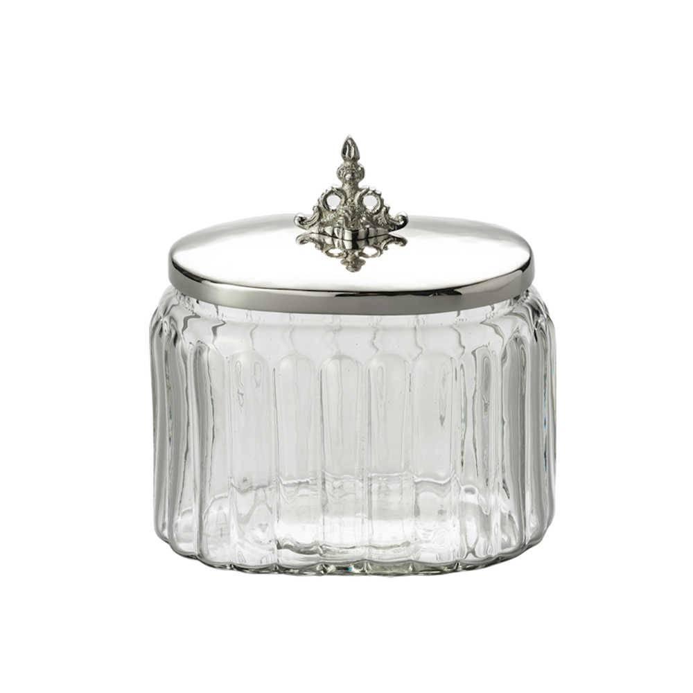 Pote para Condimentos Salsidar Oval em Vidro - Lyor Classic - 16x13,5 cm
