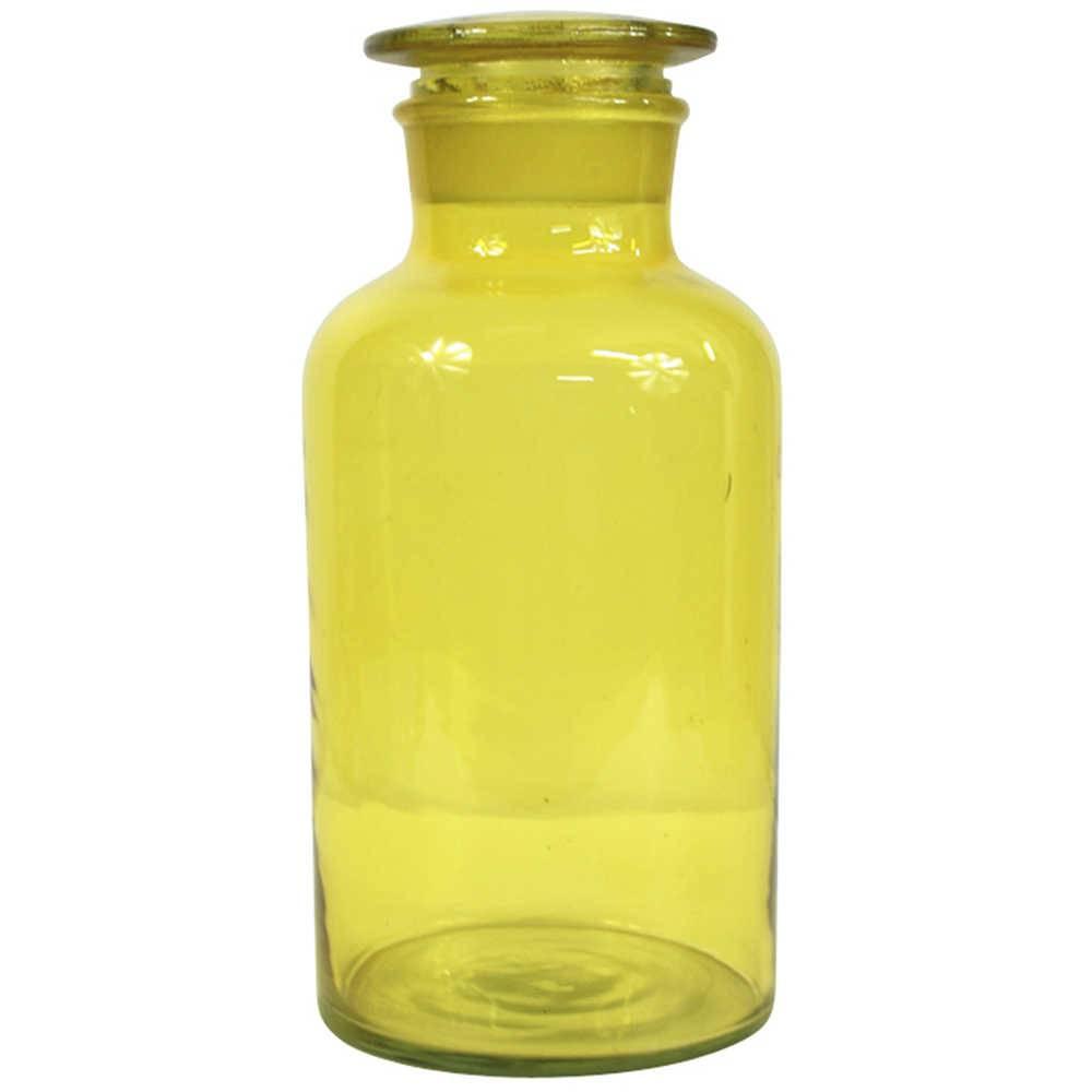 Pote Crazy Chemistry Amarelo Pequeno em Vidro - Urban - 22x10,5 cm