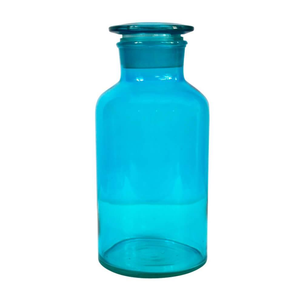 Pote Crazy Chemistry Azul Pequeno em Vidro - Urban - 22x10,5 cm
