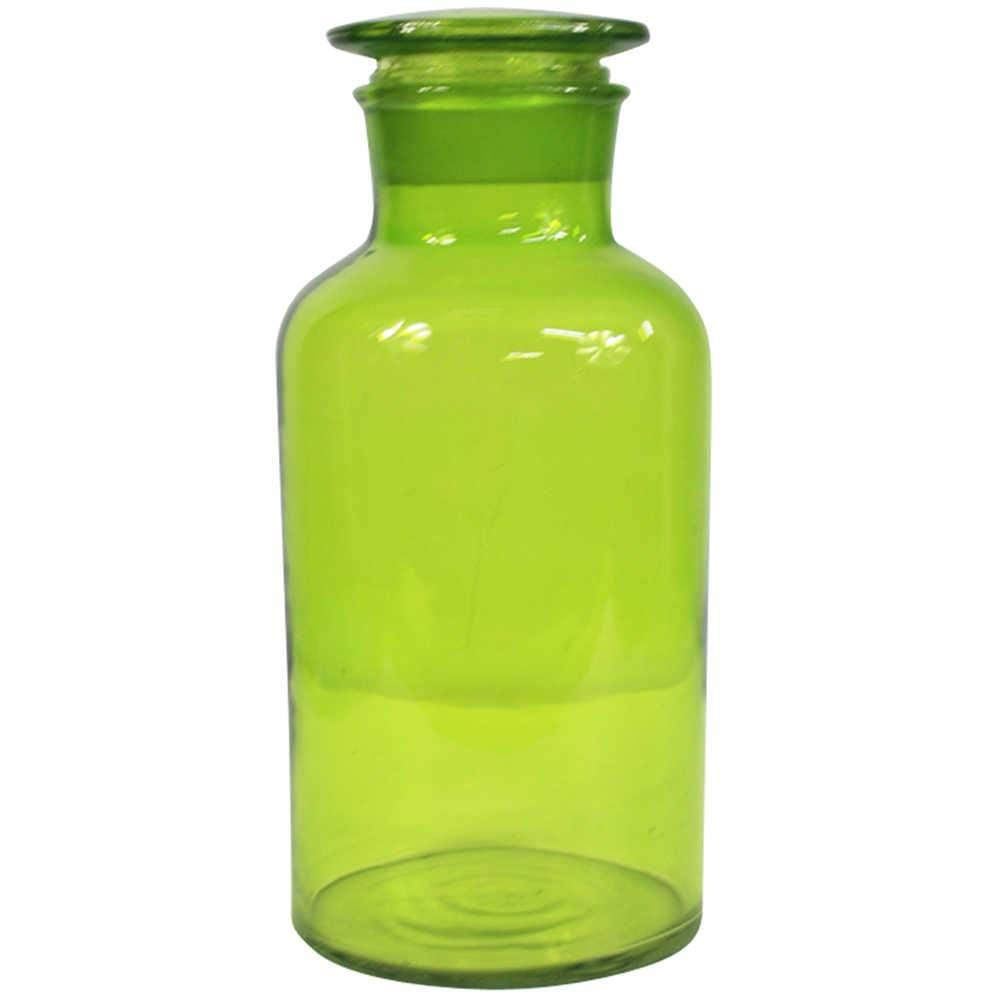 Pote Crazy Chemistry Verde Pequeno em Vidro - Urban - 22x10,5 cm