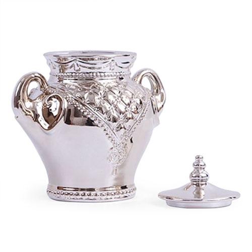 Pote Decorativo Abracadabra Médio em Cerâmica - 24x22 cm