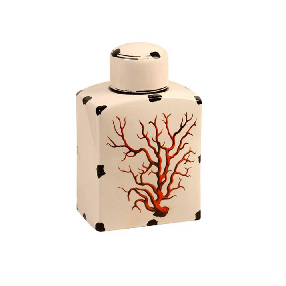 Pote Decorativo Dingy Branco Envelhecido em Cerâmica - 31x19 cm