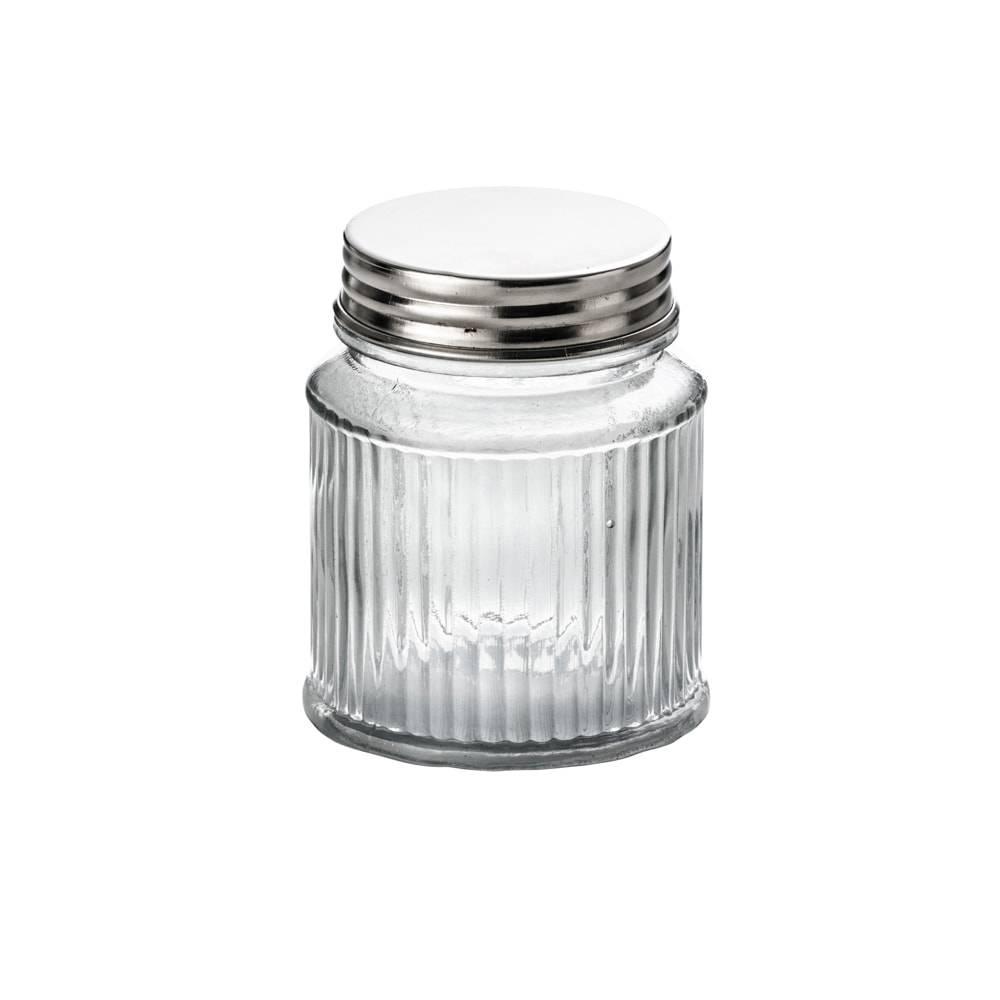 Pote Frisê em Vidro com Tampa em Alumínio - 1 Litro - Lyor Classic - 13,5x10,5 cm