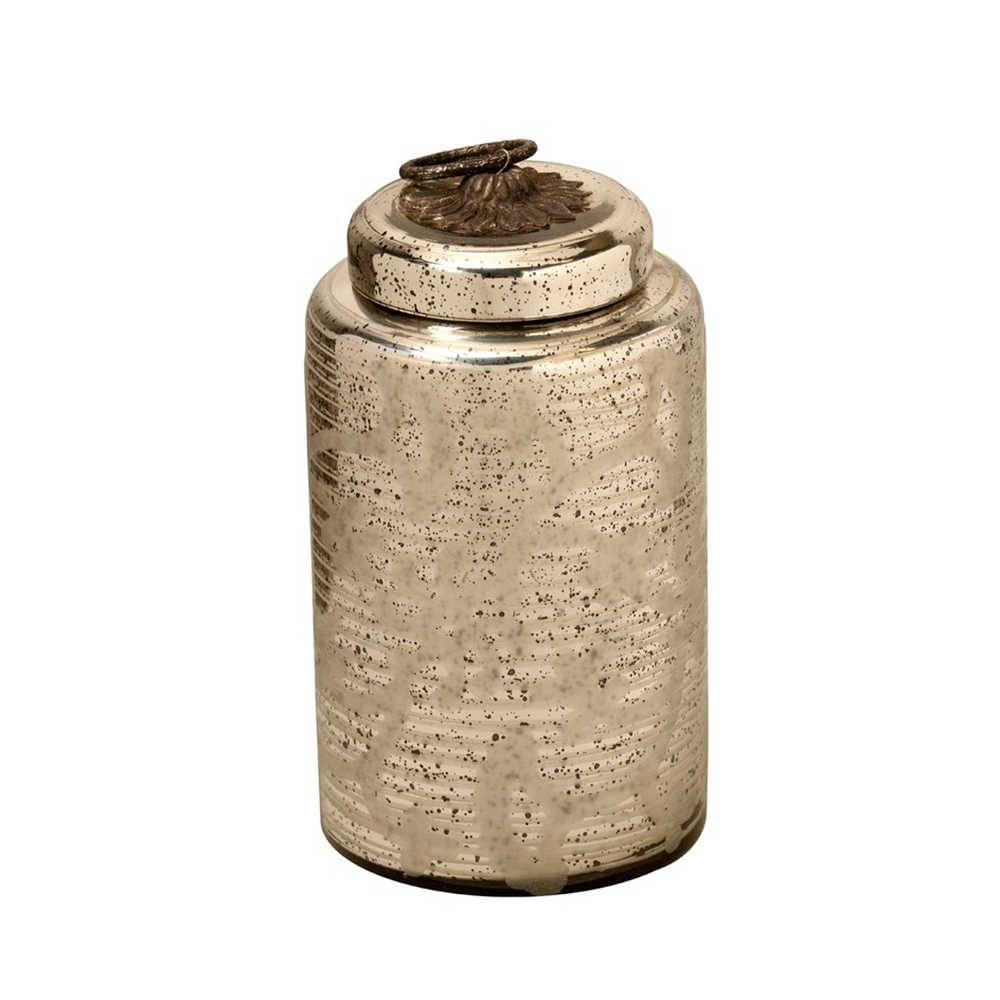 Pote Longilíneo Pequeno em Vidro - 33x18 cm