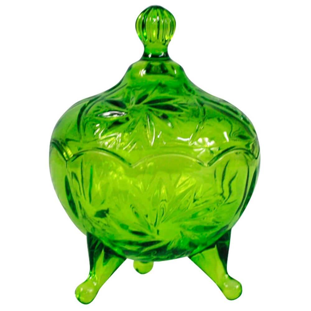 Pote Multiuso My Lovely Granma Verde em Vidro - Urban - 13x9,5 cm