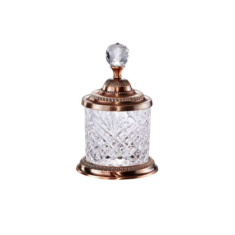 Pote Zara Dourado em Cristal e Zamac - Lyor Classic - 16,5x10,5 cm