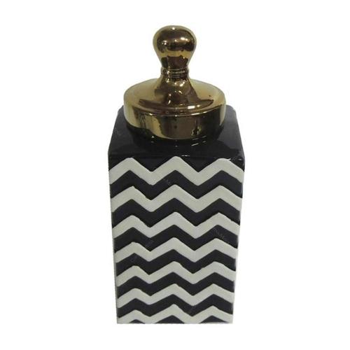 Pote Zig Zag Pequeno em Cerâmica - 29x13 cm