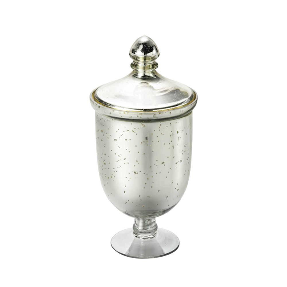 Potiche Antique Pedestal em Vidro - Lyor Classic - 23x12 cm