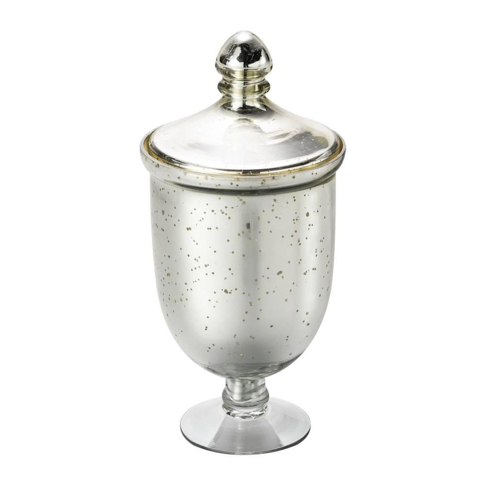Potiche Antique Pedestal em Vidro - Lyor Classic - 26x13,5 cm