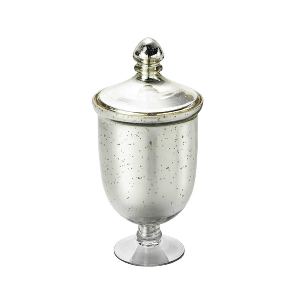 Potiche Antique Pedestal em Vidro - Lyor Classic - 30x18,5 cm
