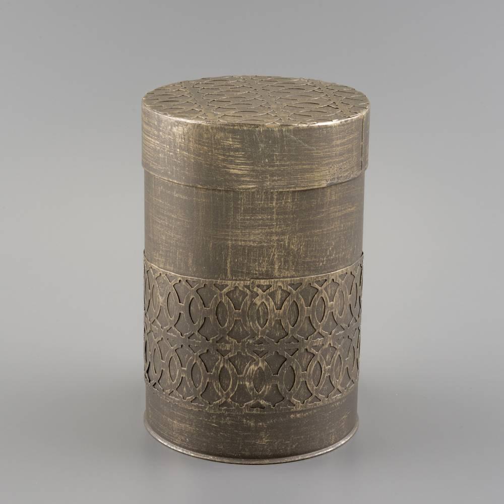 Potiche Cilíndrico Médio em Ferro Fundido - 18,5 cm