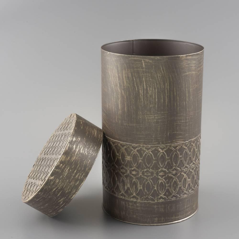 Potiche Cilíndrico em Ferro Fundido - 20 cm