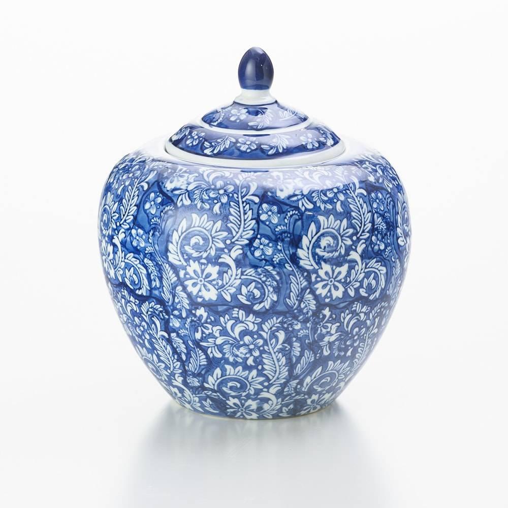 Potiche Ginger Blue em Cerâmica - Lyor Classic - 24,9x20,8 cm