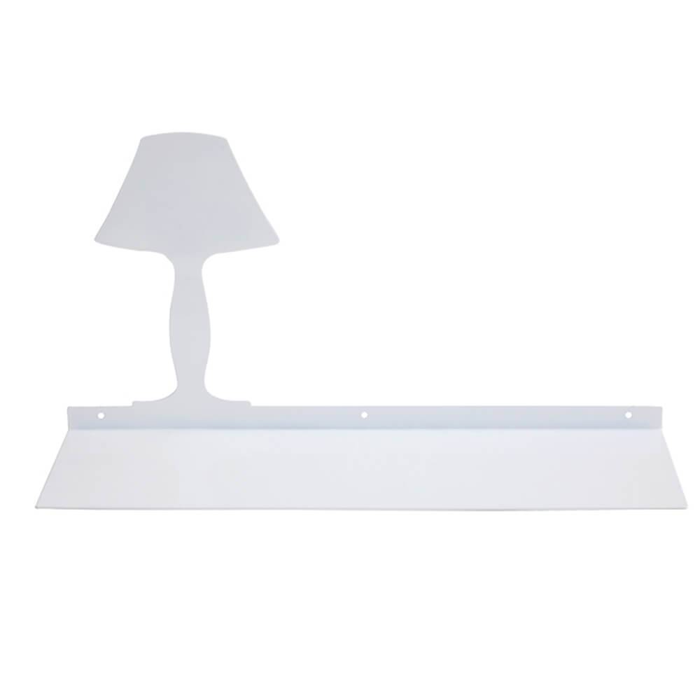 Prateleira Abajur Branca em Ferro - Urban - 45x15 cm