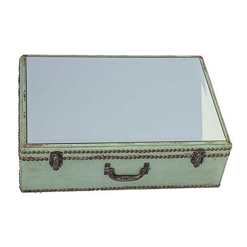 Prateleira em Madeira com Espelho Externo Oldway - 59x42 cm