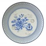 Prato Blue Dream - Finecasa - Azul/Branco em Porcelana - 47x47 cm