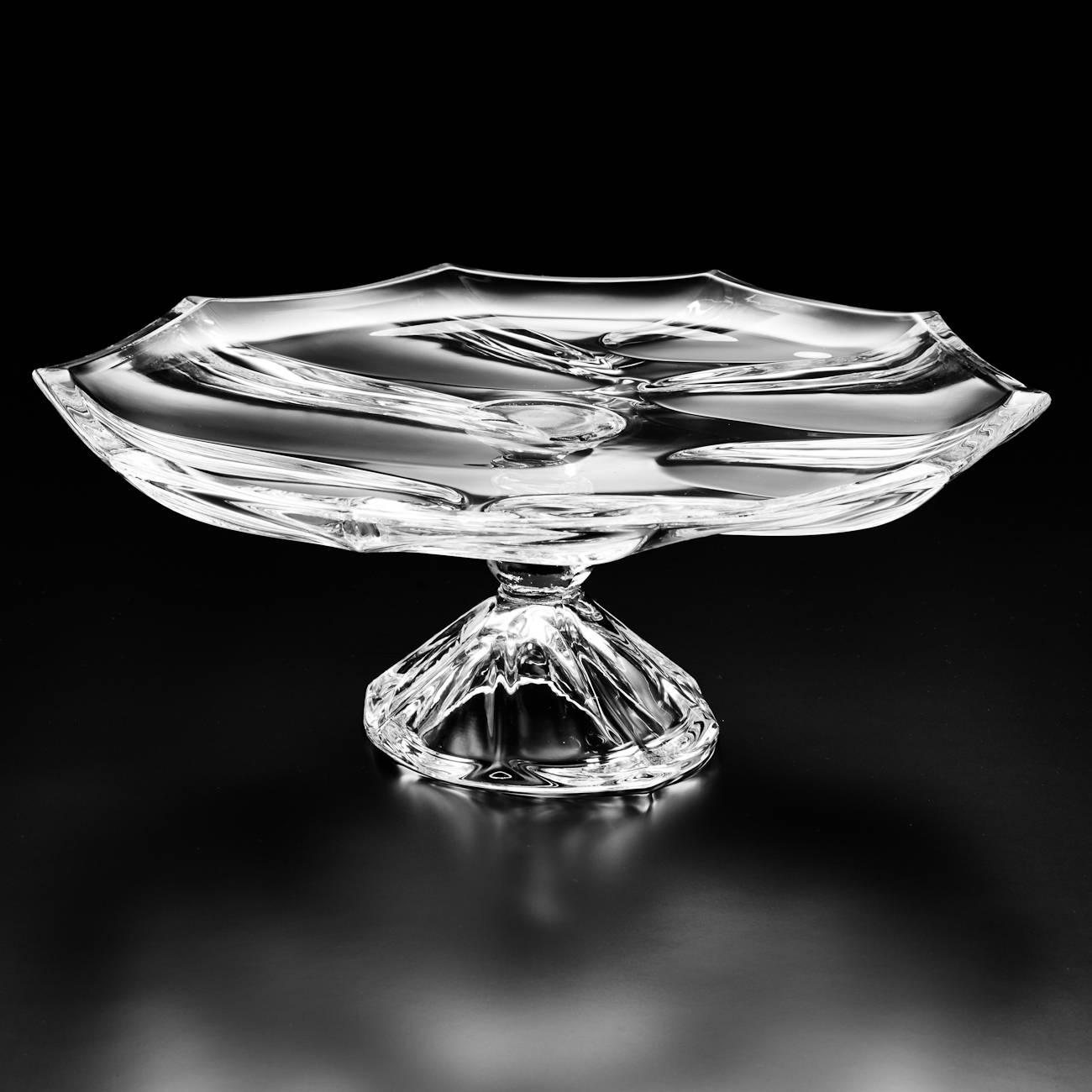 Prato para Bolo Sky Pedestal em Cristal - Wolff - 33,5 cm