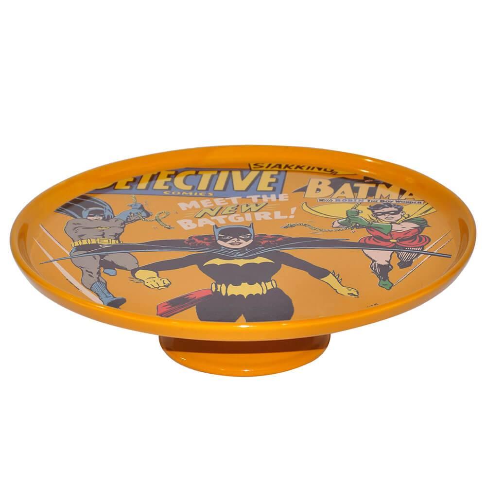 Prato para Bolo DC Comics Batgirl Laranja Com Pé em Porcelana - Urban - 28x28 cm