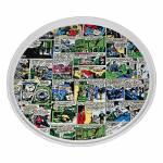 Prato para Bolo DC Comics com Pé em Porcelana - Urban - 28x28 cm
