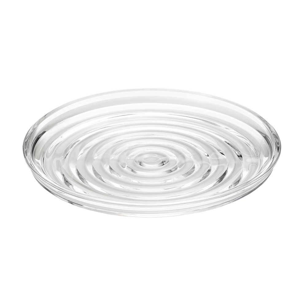 Prato de Bolo Layers Transparente em Cristal - Lyor Classic - 31x3 cm