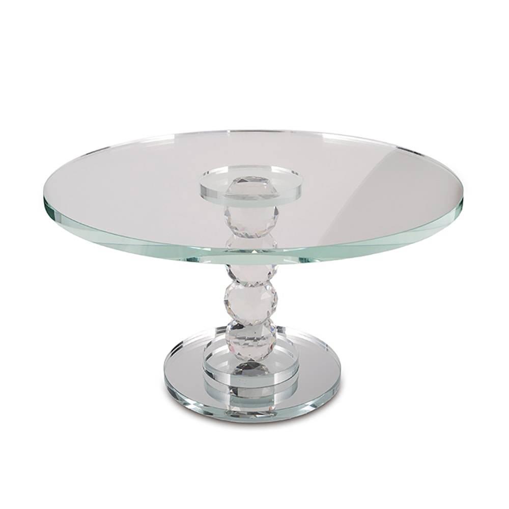 Prato para Bolo Luxury Pedestal em Vidro - 25x17 cm