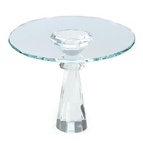 Prato para Bolo Transparente em Cristal - 29x24 cm