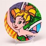 Prato Disney Tinker Bell Multicolorido em Cerâmica - 21x21 cm