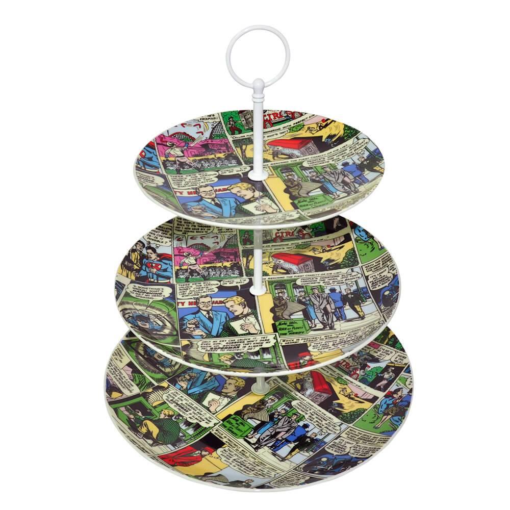 Prato para Doces DC Comics Quadrinhos em Porcelana - Urban - 27x23 cm