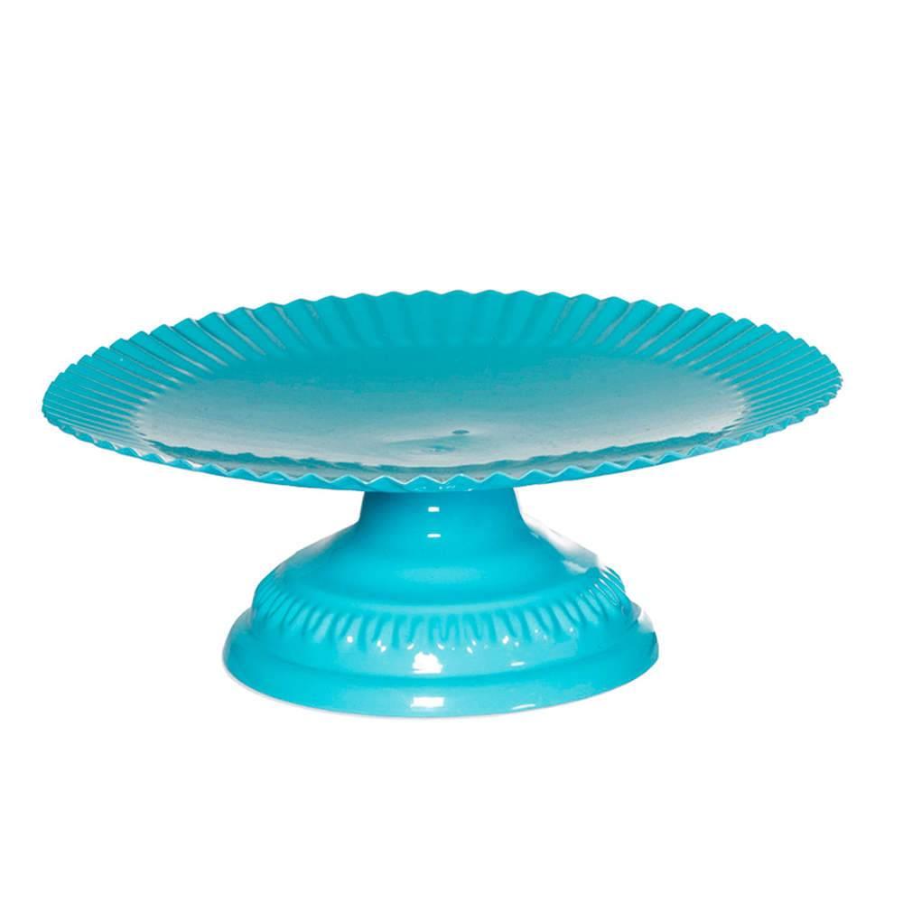 Prato para Doces Fountain Azul em Metal - Urban - 22x7,8 cm