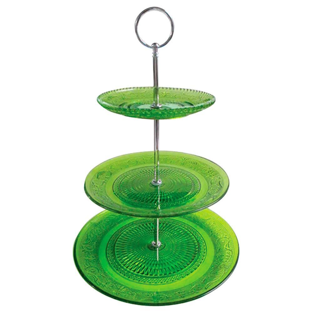 Prato para Doces Glass Verde em Vidro - Urban - 38x25 cm