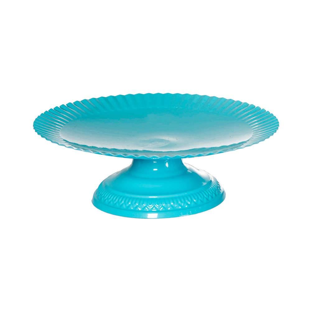 Prato para Doces Grande Fountain Azul em Metal - Urban - 27,5x9 cm