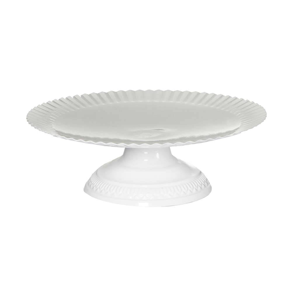 Prato para Doces Grande Fountain Branco em Metal - Urban - 27,5x9 cm