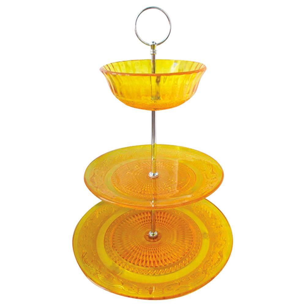 Prato para Doces Plus Bowl Glass Amarelo em Vidro - Urban - 25x20 cm