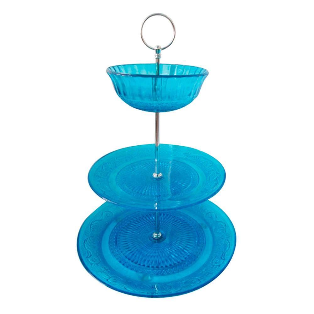 Prato para Doces Plus Bowl Glass Azul em Vidro - Urban - 25x20 cm