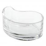 Prato Drop Transparente em Vidro - 15x9 cm