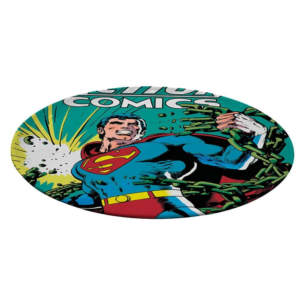 Prato Giratório DC Comics Superman With Green Currents em Melamina - Urban - 39,3 cm