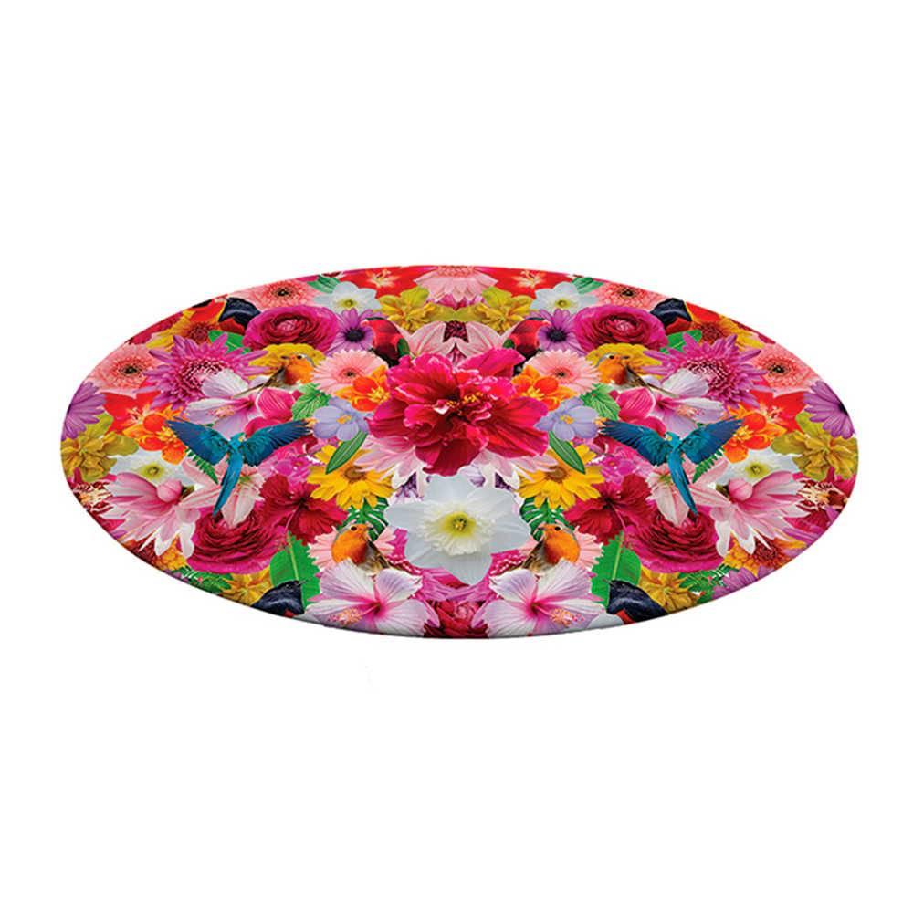 Prato Giratório Floral Colorido em Melamina - Urban - 39,3 cm