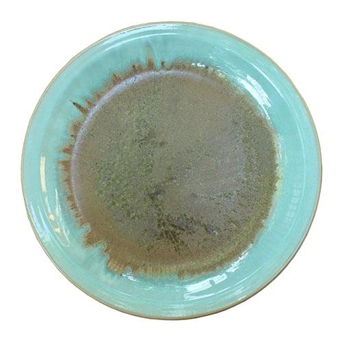 Prato Golden Blue em Cerâmica - 45,5x6 cm