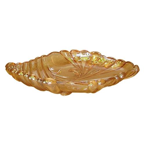 Prato Grande Voga em Vidro Âmbar - 38x25 cm