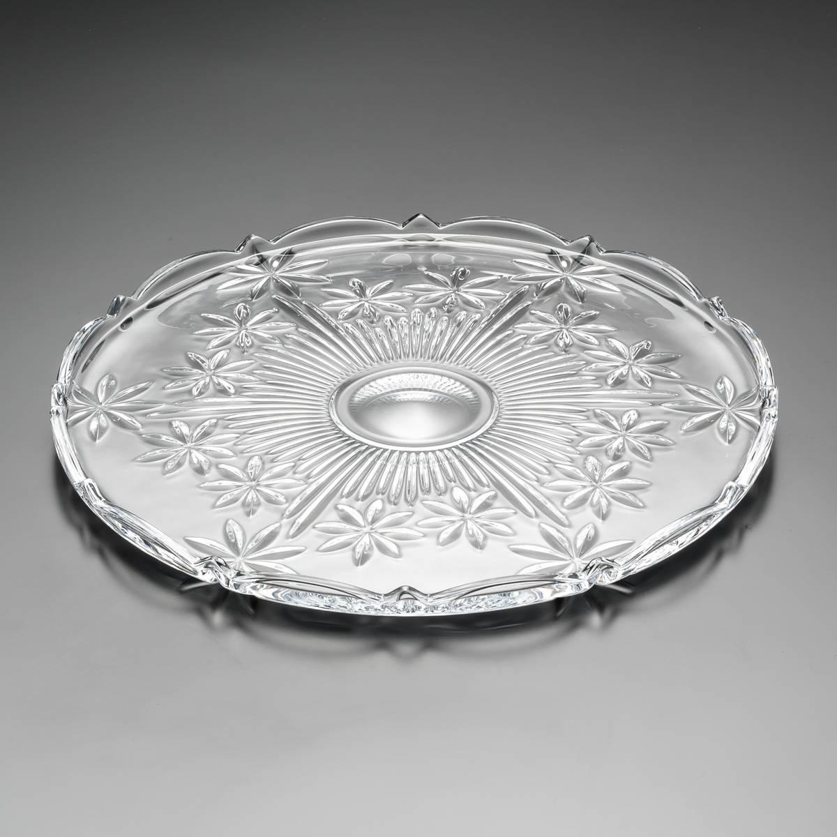 Prato para Bolo Perseus em Cristal - Bohemia - 31x2 cm